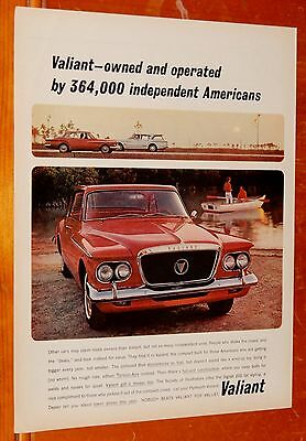Nice 1962 Plymouth Valiant Coupe In Red Vintage Ad - American Retro 60S Auto