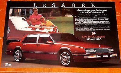 1990 Buick Lesabre Sedan In Red Father & Son Retro Ad -  American 1990S Auto