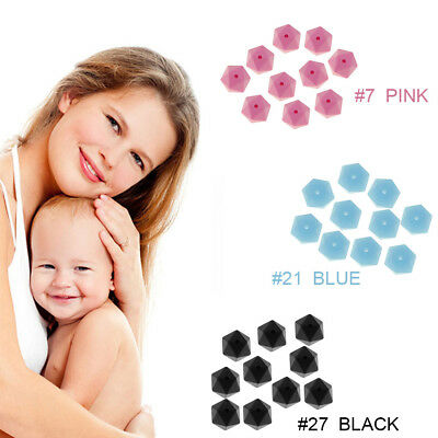MOM Hex Silicone Teething Loose Beads For DIY Making Bracelets Necklace Teether