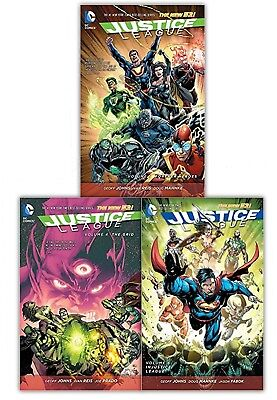 Justice League 3 Books Collection Set Vol 4-5 The Grid, Forever Heroes, Injustic