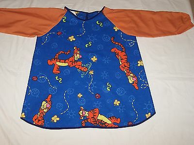 Gorgeous Tigger Waterproof Cotton Art Smock Age 4-7 Perfect For Starting School