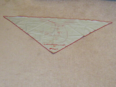 "Karoondinha Camp  ""81"" Www  W/ Map  Bsa  Neckerchief"