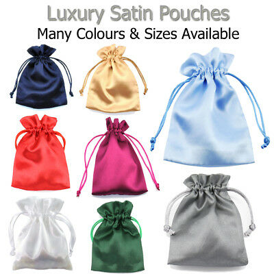 Satin Bags Wedding Favours Birthday Pouches Party Sweets Gift Wrapping Jewellery