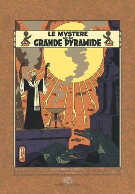 Affiche Sérigraphie Blake et Mortimer La grande pyramide Archives Internationale