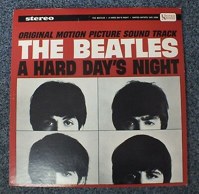 The Beatles: A Hard Day's Night LP Vinyl: United Artists Stereo UAS 6366