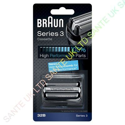 OFFICIAL! BRAUN 32B Replacement Foil and Cutter Cassette For Series 3 Shavers