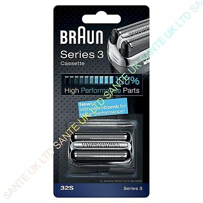 OFFICIAL! BRAUN 32S Replacement Foil and Cutter Cassette For Series 3 Shavers