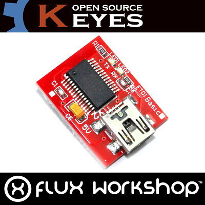 FT232 Serial Adapter Genuine Keyes Module FTDI USB Arduino Pro TTL Flux Workshop