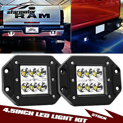 4 5 Flush Mount Backup Reverse Front Rear Bumper Led Lights