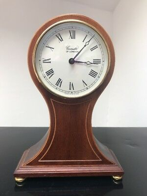 Vintage Comitti Of London Wooden Mantel Clock