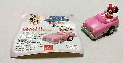 MINNIE CONVERTIBLE, Disney ( #-2 of -5 new ) Pink Pull back Car ,BIRTHDAYLAND.