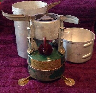 Vintage US Military Rogers 1951 Gasoline Camp Stove and Case