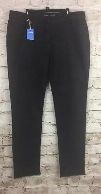 Long Tall Sally It's Denim Skinny Jeans Size 18 Color Black Cotton Blend