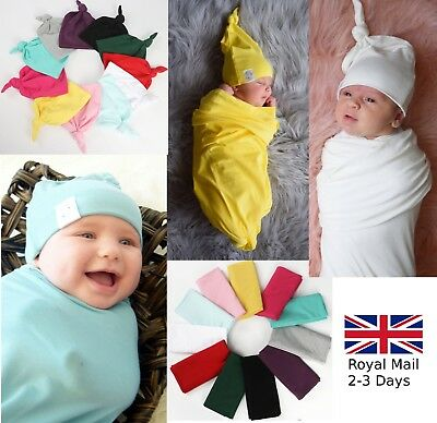Baby Newborn Boy Girl Cotton Hat Swaddle Infant Wrap Blanket Photo Costume Caps