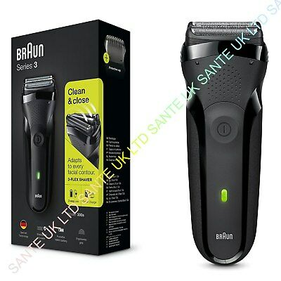 OFFICIAL! BRAUN SERIES 3 300s 3 FLEX MENS SHAVER QUICK CHARGE NEW AND BOXED