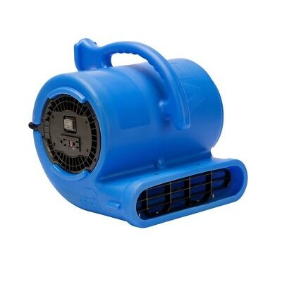 1/3 HP Vent Air Mover Carpet Dryer Janitorial Floor Blower Fan in Blue By B-Air