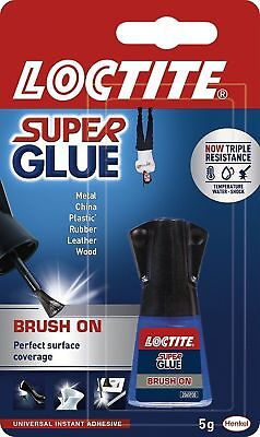 Loctite Super Glue - Easy Brush On Spreadable Applicator Fast Strong - 5g Bottle