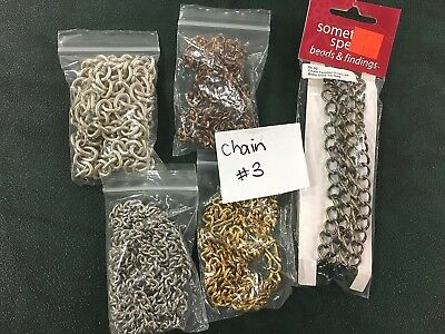 Metal Chain - Jewellery Making - Mixed Pack of 5 - #3