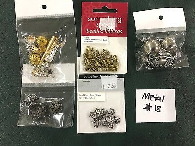 Metal or Metal Look Jewellery Making Findings - Mixed Pack of 5 - #18