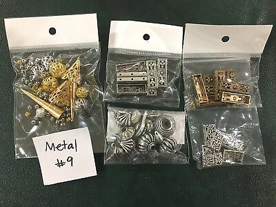 Metal or Metal Look Jewellery Making Findings - Mixed Pack of 5 - #9
