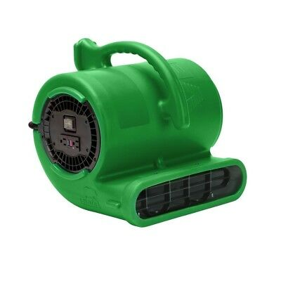1/3 HP Vent Air Mover Carpet Dryer Janitorial Floor Blower Fan in Green By B-Air