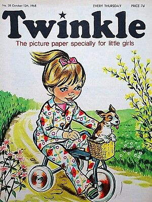 TWINKLE - 12th OCTOBER 1968 (10 - 16 Oct) RARE 50th BIRTHDAY GIFT !! FINE..bunty
