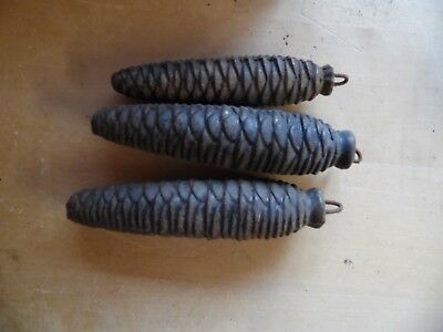 3 x Vintage Cuckoo Clock Pine Weights