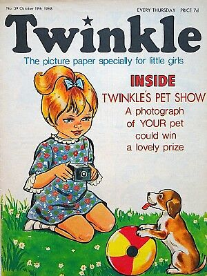 TWINKLE - 19th OCTOBER 1968 (17 - 23 Oct) RARE 50th BIRTHDAY GIFT !! FINE..bunty