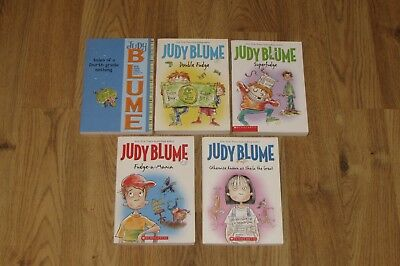 Complete FUDGE SERIES 1-5 Judy Blume Chapter Book Lot
