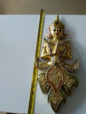 Thai Angel, wooden wall mounted, Authentic item from Thailand