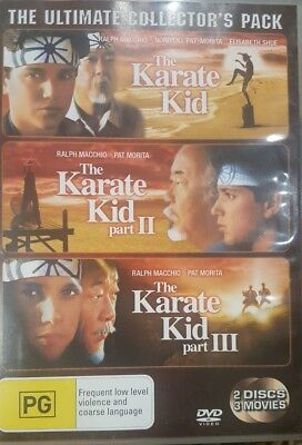The Karate Kid 1 2 3 Ultimate Collector's Pack Rare Deleted Dvd Trilogy Macchio