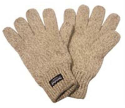 Rag Wool Knitted Gloves Walnut One size fits most very Warm 3M Thinsulate Lined