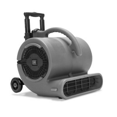 1/2 HP Air Mover Stackable Carpet Dryer Floor Blower Fan w/ Handle Grey By B-Air