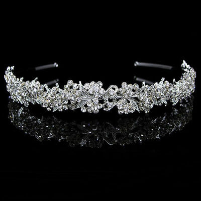 Wedding Bridal Flower Girl Prom Pagent Tiara Rhinestone Crystal Cz