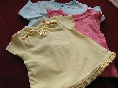 Three Baby Dresses   0-3 Months
