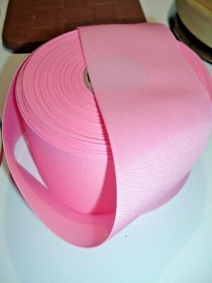 "Offray 50 Yd Roll Med Pink Grosgrain Ribbon 3"" New Hq-Cheer Bows-Free Shipping"