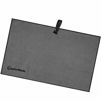 "TaylorMade 2018 Microfiber Cart Mens Golf Towel 15"" x 24"" Grey"