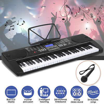 61 Key Electronic Keyboard Electric Music Digital Piano Organ With Microphone
