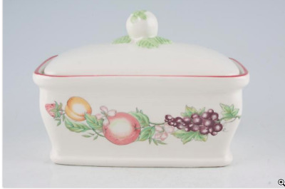 Boots ' Orchard' Butter dish with lid exc cond