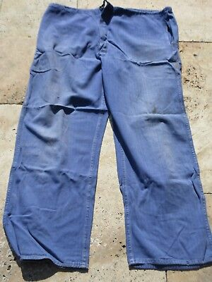 Drillich HBT  Worker Pants True Vintage Trouser Heritage Mechanic French Style