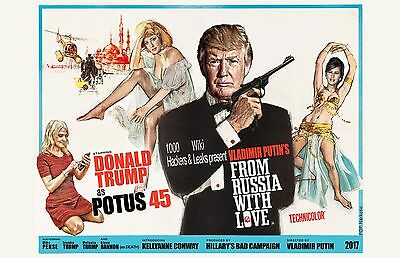 "POTUS 007 Parody Poster featuring Trump as Bond -11x17"" Signed by Artist"
