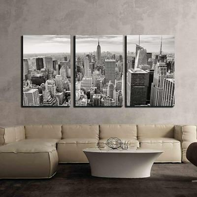 "Wall26 - Aerial View of Manhattan New York City Usa - CVS - 16""x24""x3 Panels"