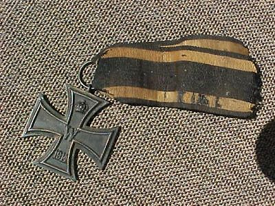 Original Wwi German  Iron Cross Medal 2Nd Class - Ring Stamped
