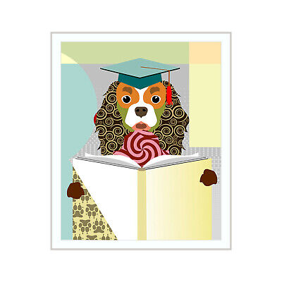 Cavalier King Charles Dog Pop Art Pet Poster Animal Lover Print Puppy Painting