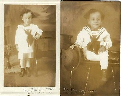 1920s Harlem~African American Photography Studio~2 Antique RPPC~Real Photo Cards
