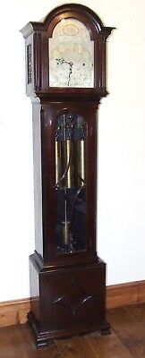 Antique Musical Chiming Mahogany Longcase Grandfather Clock LISTER & SONS