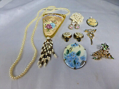 LOT of VINTAGE & ANTIQUE JEWELRY