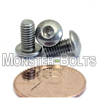 M4 - 0.70 x 8mm Stainless Steel Button Head Socket Hex Cap Screws, A2 ISO 7380