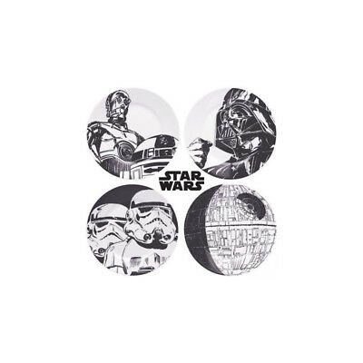 Assiettes Star Wars en Céramique - Lot de 4 - Neuf