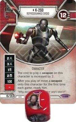 Star Wars Destiny Empire at War K-2S0 Reprogrammed Droid 26 Legend